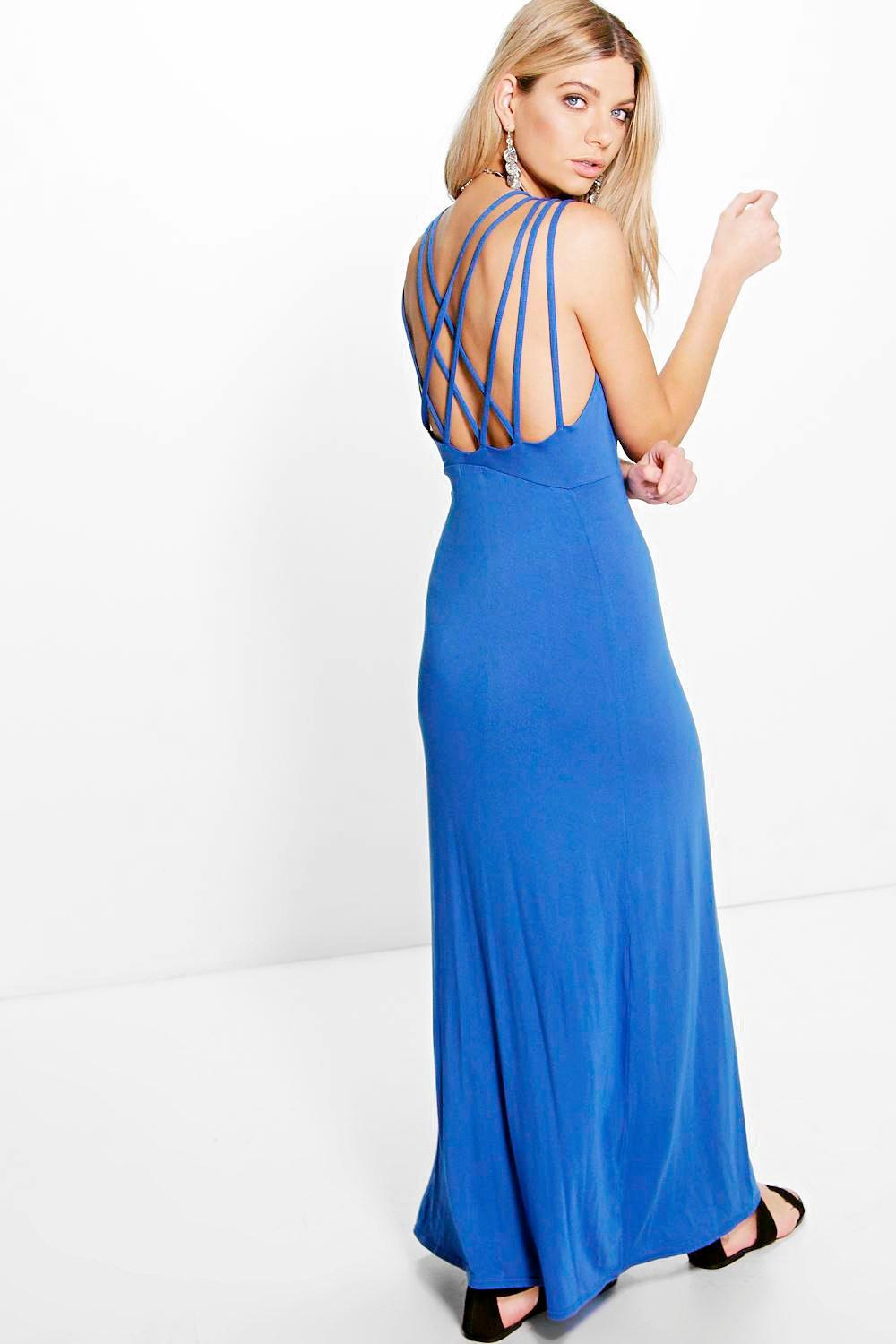 Katia Cross Back Strap Detail Maxi Dress