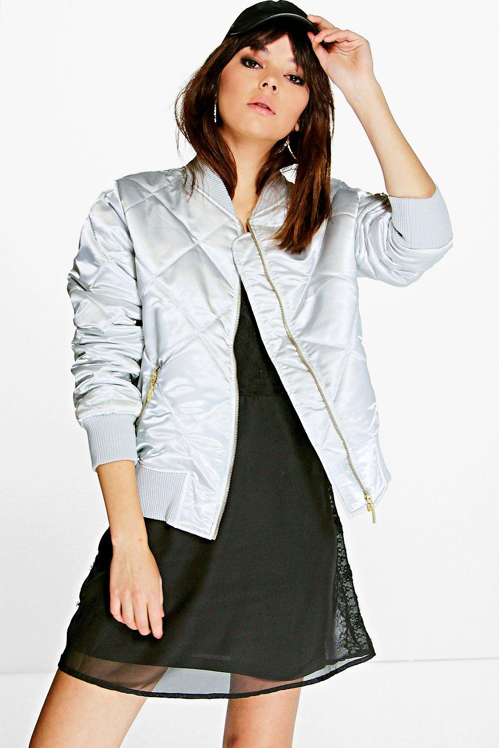 Georgina Quilted Satin Bomber