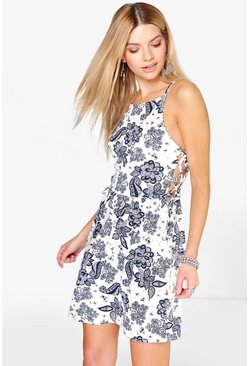 Eleonore Tie Side Skater Dress