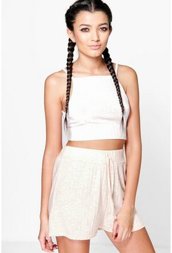 Kim Knitted Rib Flippy Shorts