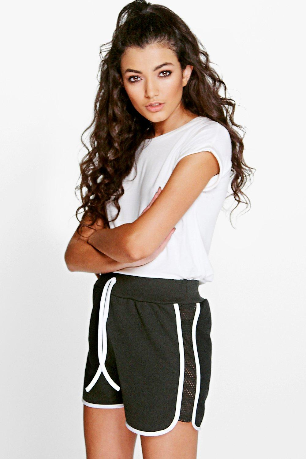 Jen Mesh Panel Side Runner Shorts