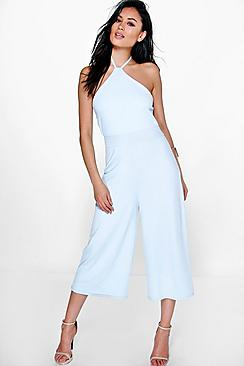 Julie Halter Neck Culotte Jumpsuit