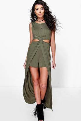 Ellie Twist Front Maxi Overlay Playsuit