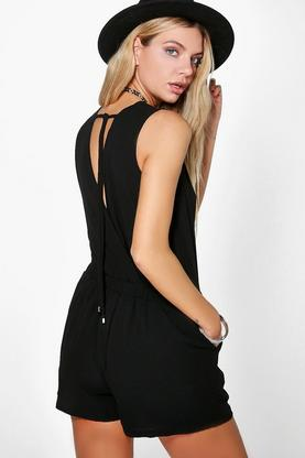 Lois Chiffon Drape Back Playsuit