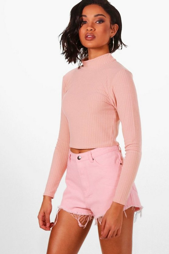 Sara Soft Rib Knit Crop Jumper