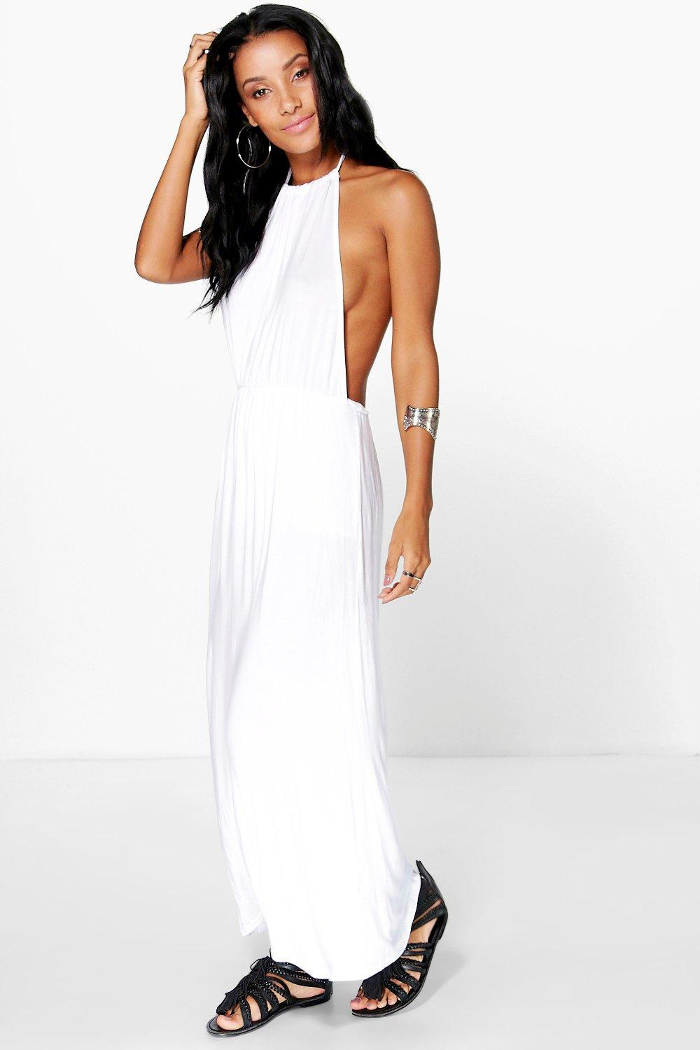 Ella Halterneck Bandeau Maxi Dress