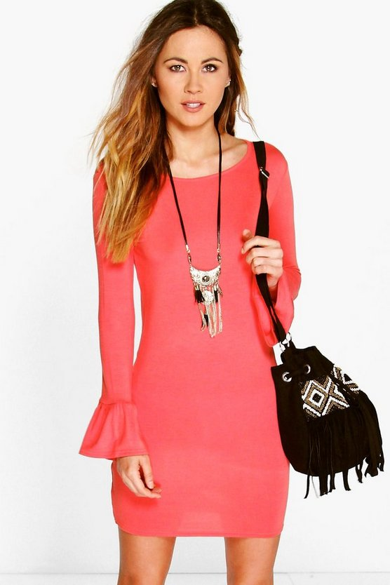 Rosie Fluted Sleeve Shift Dress