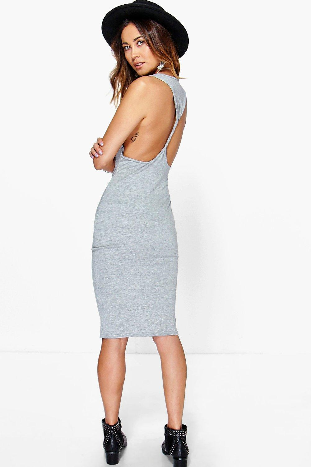 Rhiannon Twist Back Bodycon Midi Dress