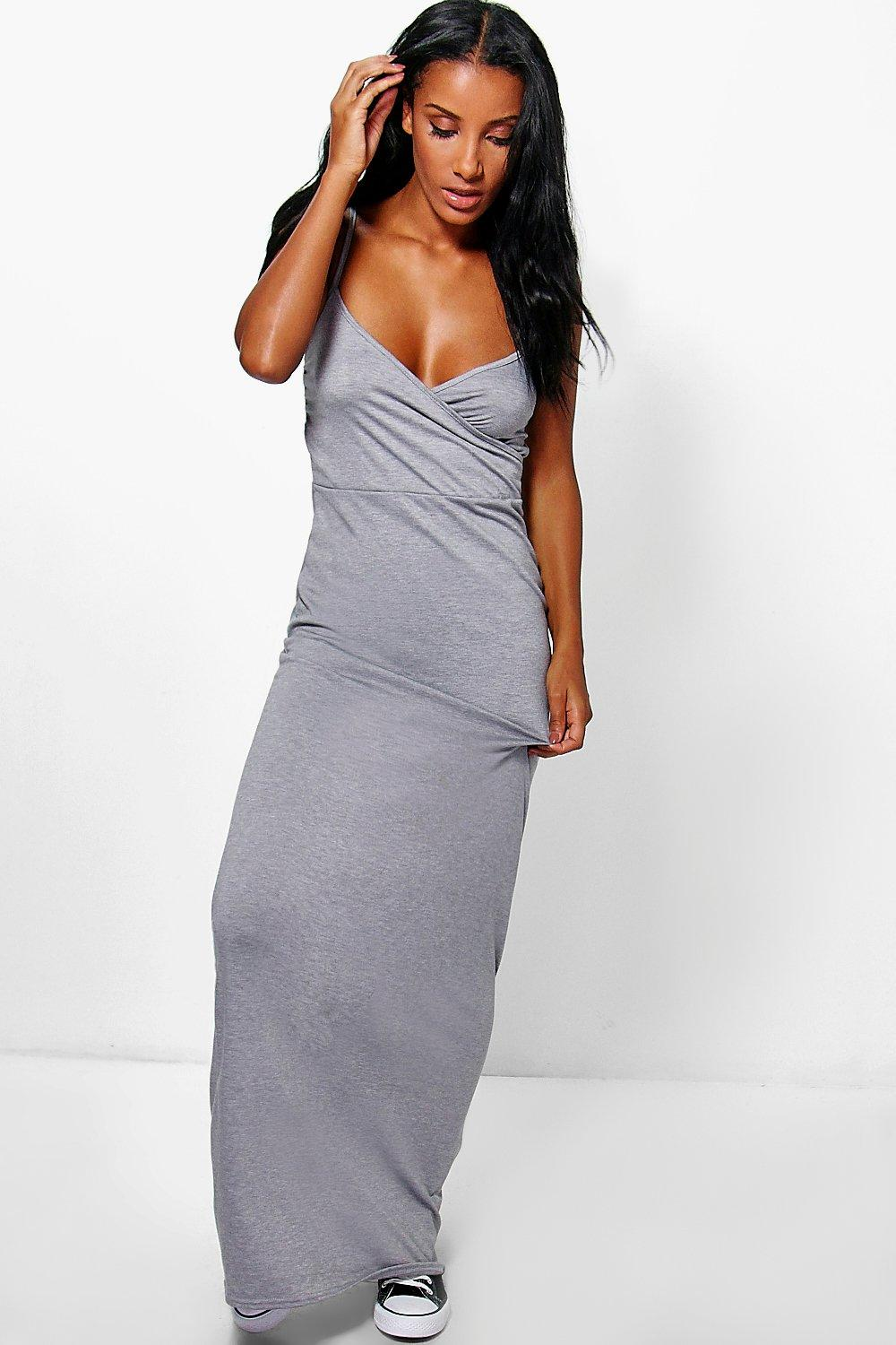 Caggie Wrap Front Strappy Maxi Dress