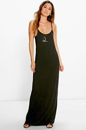 Kris Strappy Racer Back Maxi Dress