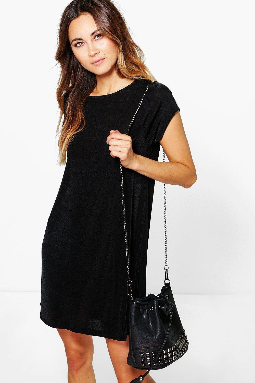 Premium Slinky Shift Dress black