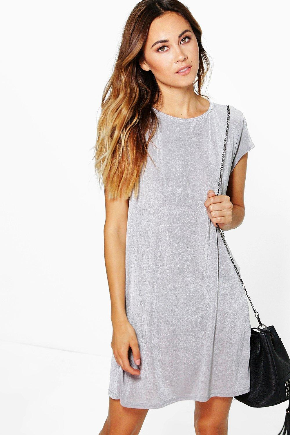Becky Premium Slinky Shift Dress