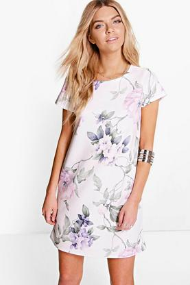 Sinead Flower Printed Shift Dress
