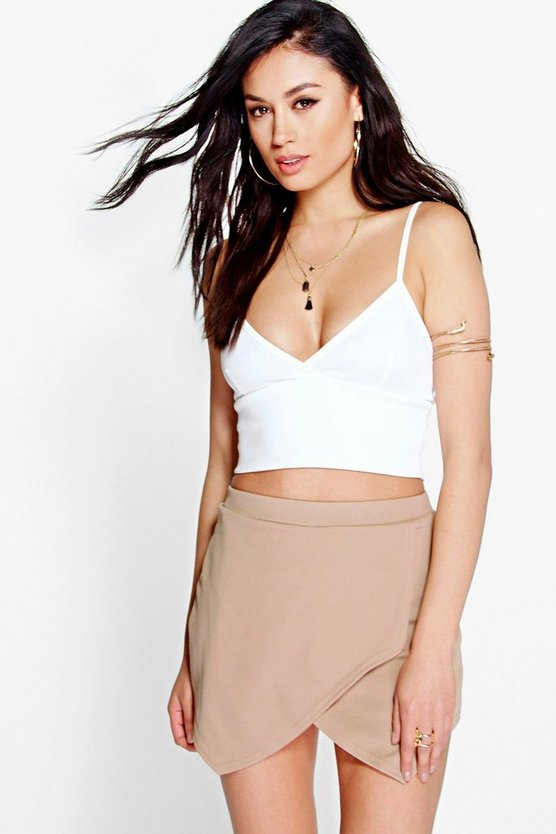 Solid Colour Crepe Skort