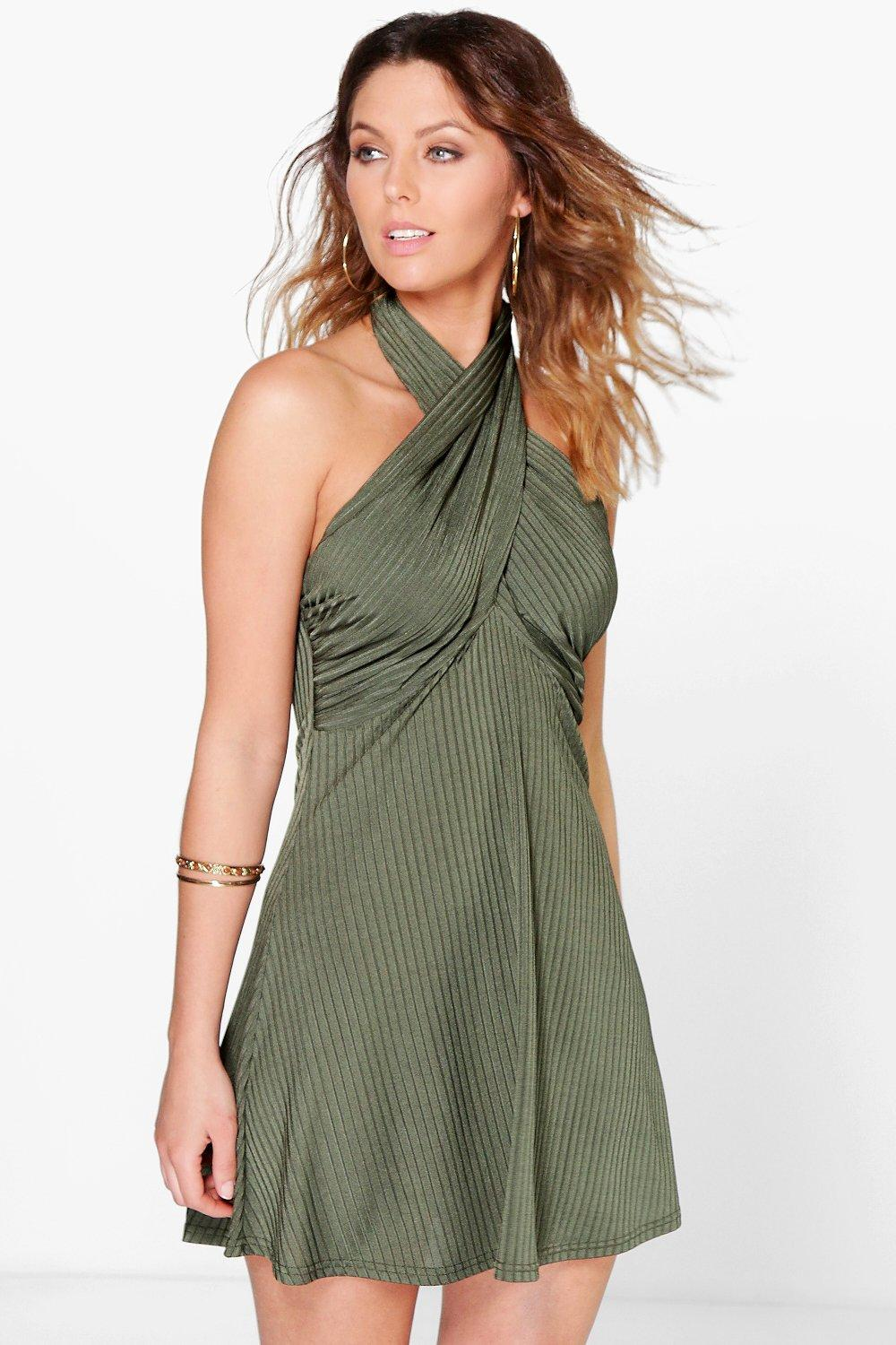Hannah Slinky Drape Swing Dress