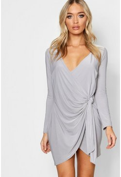 Madeleine Drape Knot Detail Dress