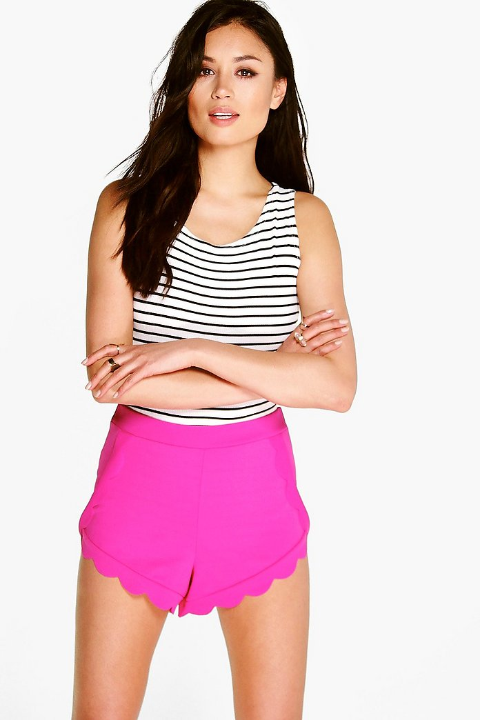 Lucy Scalloped Trim Shorts