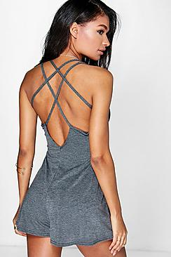 Nora Strappy Back Swing Playsuit