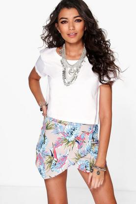Cara Tropical Print Skort
