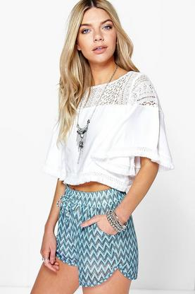 Eliza Knitted Zig Zag Runner Shorts