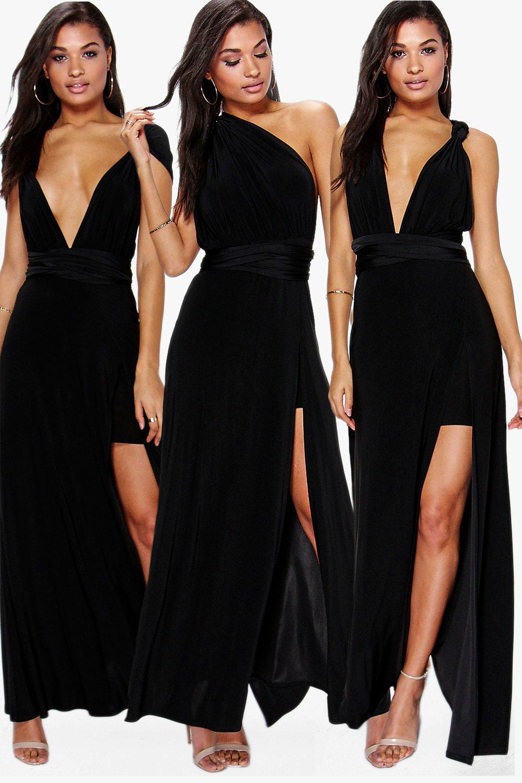 Marjorie Multiway Side Split Skirt Maxi Dress | Boohoo