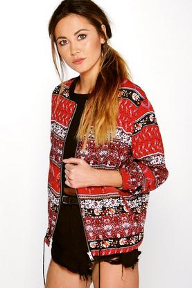 Anabel Paisley Print Bomber