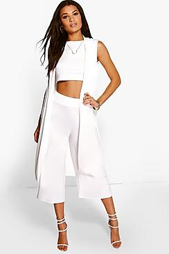 Misa 3 Piece Crop Culotte & Duster Co-Ord Set