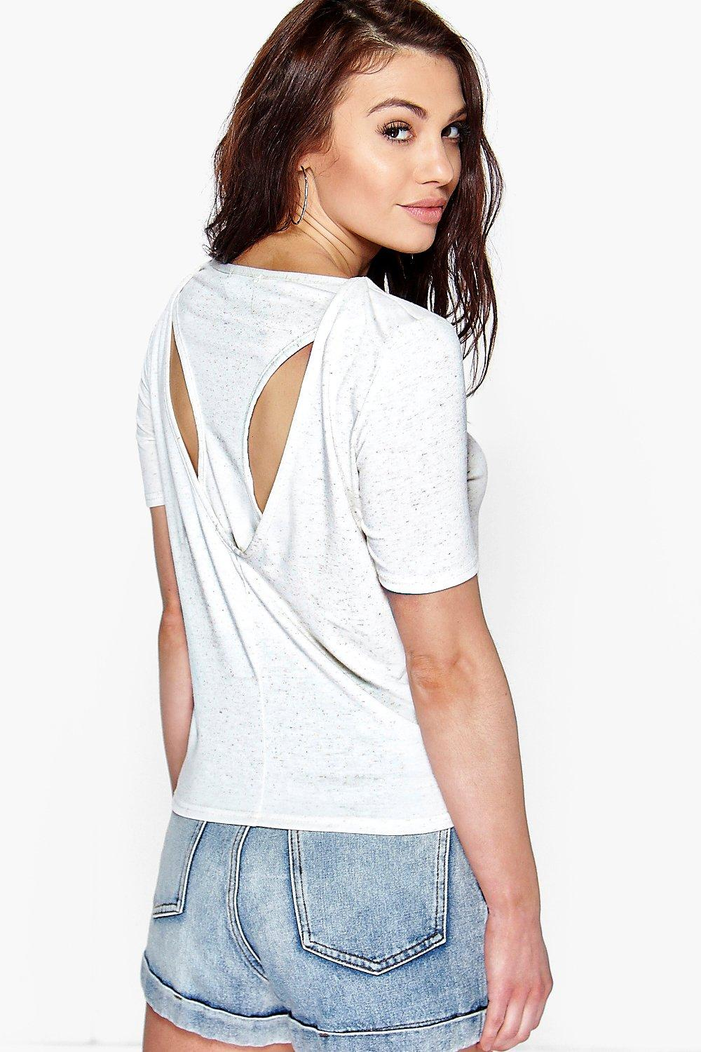 Nina Cut Out Racer Back Tee