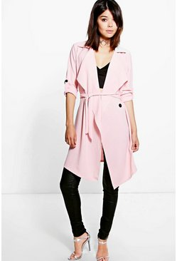 Maisie Waterfall Belted Trench