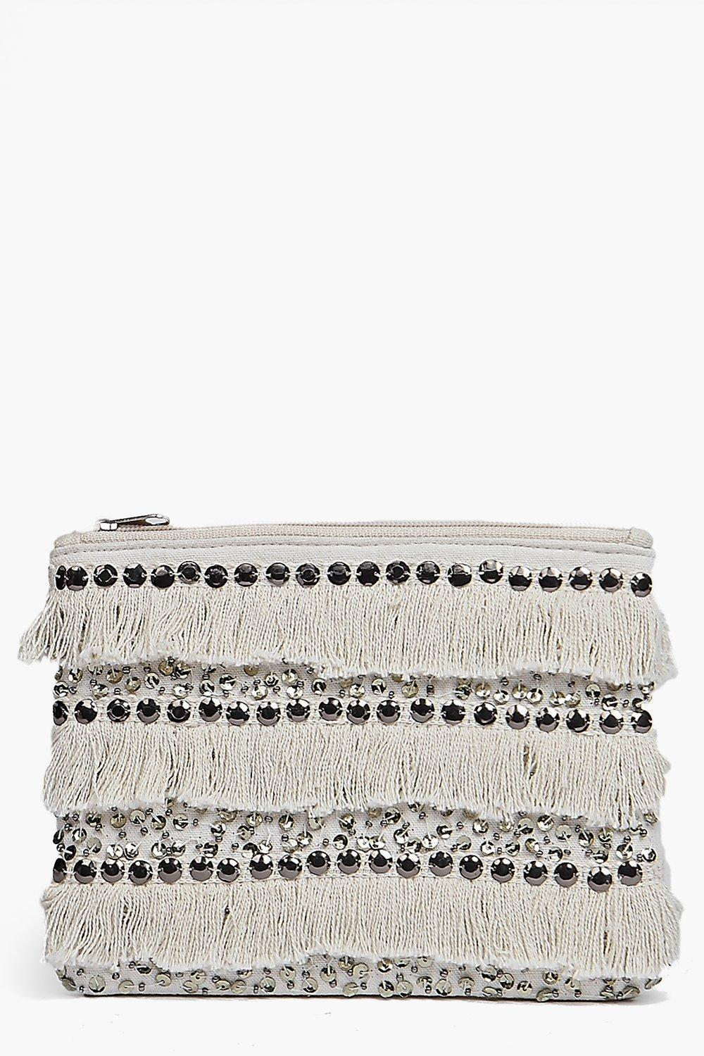 Boutique Moroccan Sequin Fringed Clutch Bag