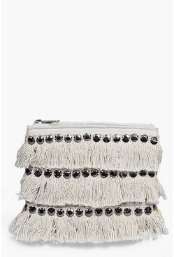 Boutique Moroccan Sequin And Fringed Purse