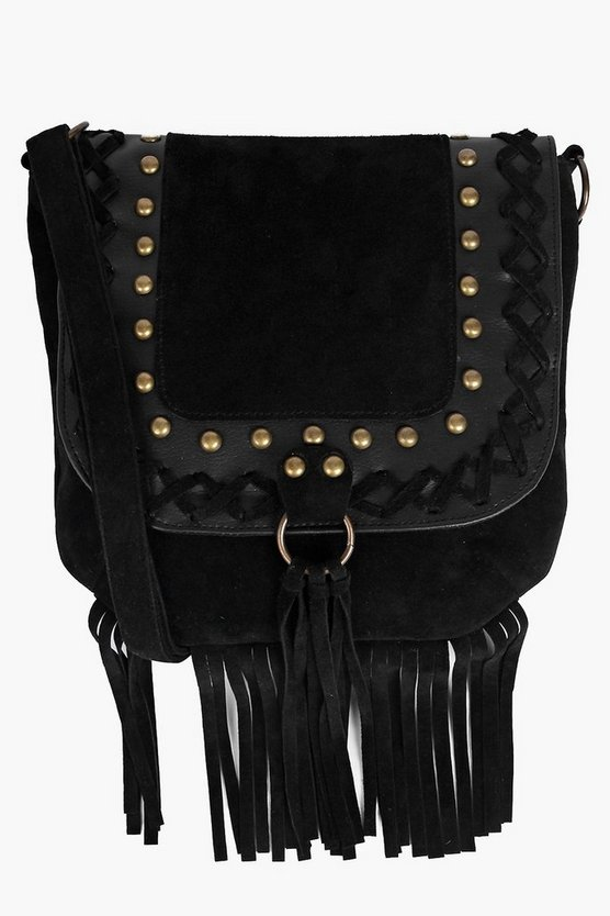 Lily Stud And Fringe Cross Body Bag