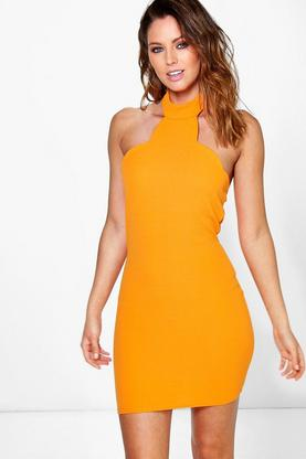 Jades Scallop Neck Detail Bodycon Dress