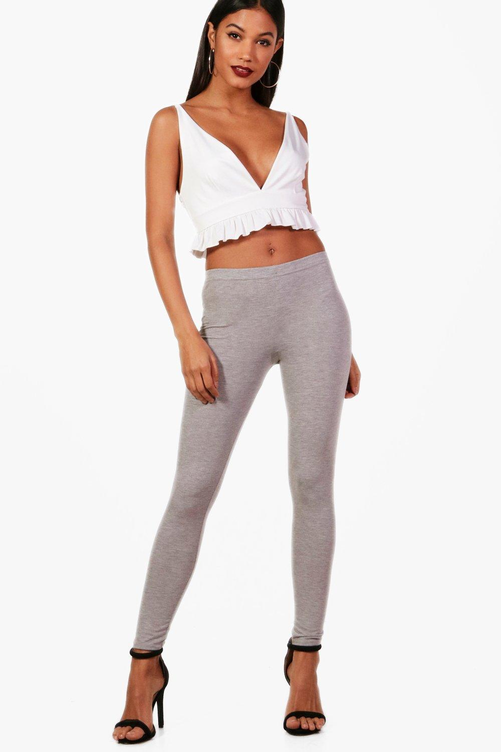 Annie Basic Jersey Leggings grey marl