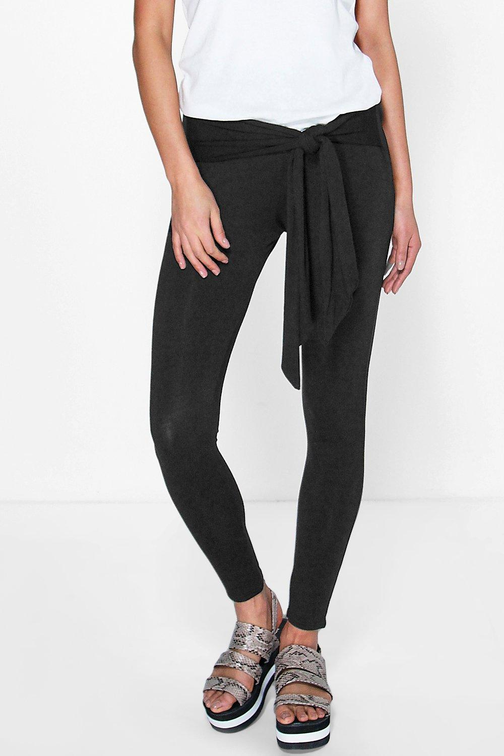 Dolly Tie Waist Basic Leggings