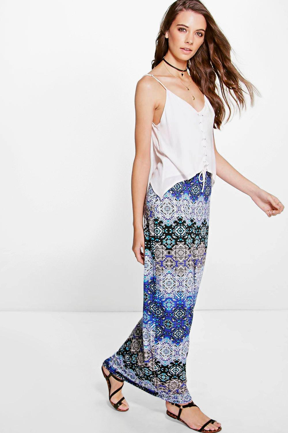 Willow Bohemian Print Maxi Skirt