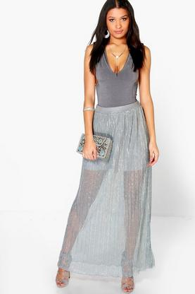 Aria Mermaid Floor Sweeping Maxi Skirt
