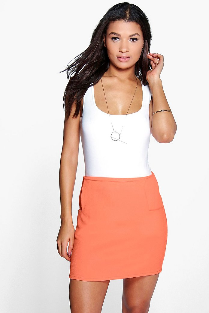Analia Pocket Side Woven Mini Skirt