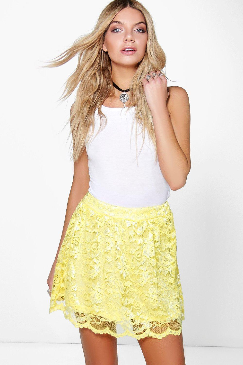 Royah Full Lace Mini Skater Skirt
