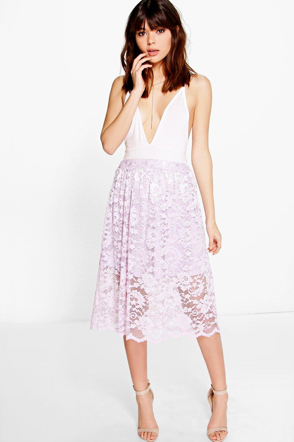 Kate Full Lace Midi Skirt