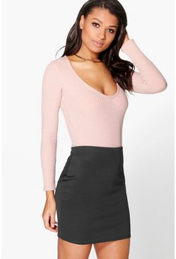 Elva Ponte Basic Mini Skirt