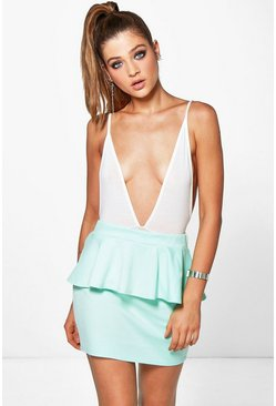 Suri Ponte Peplum Mini Skirt