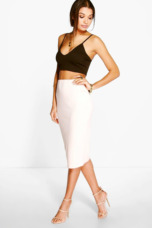 Ponte Basic Midi Skirt nude