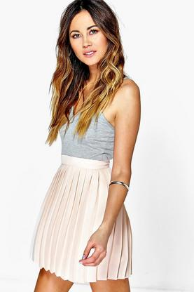 Cate Chiffon Pleated Mini Skirt