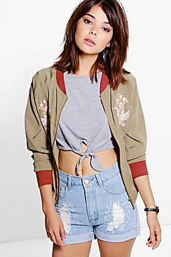 Eloise Embroidered Bomber Jacket