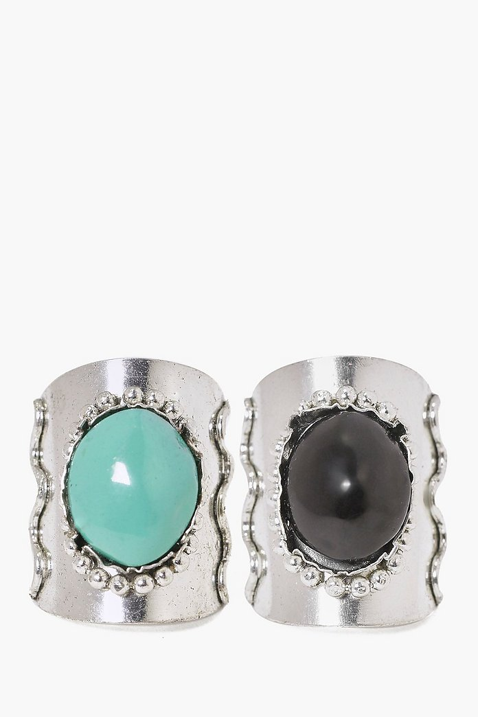 Kayla Large Stone Ring 2 Pack