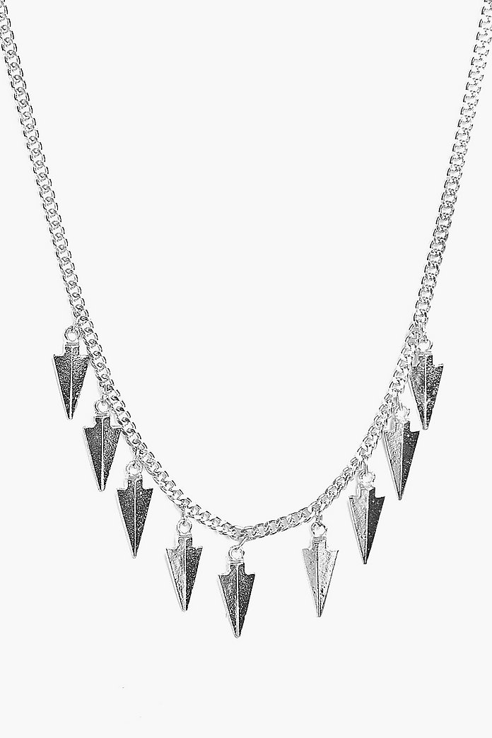 Zoe Multi Arrow Head Pendant Skinny Necklace