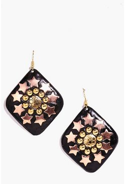 Louise Star And Round Studded Earrings