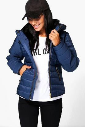 Maya Quilted Zip Detail Jacket
