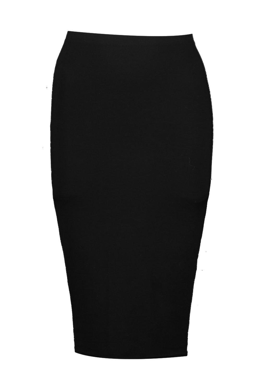 Bella Basic Jersey Midi Skirt at boohoo.com